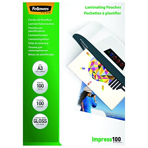 Fellowes Pouches Lucide Impress100, 100 my, A3, 100 Pezzi