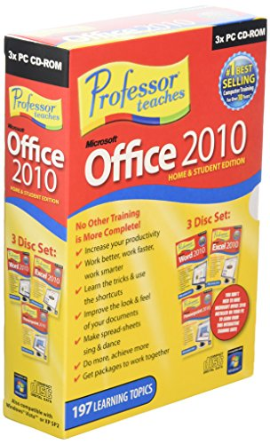 Professor Teaches Microsoft Office 2010 Home and Student (3 Pack)(PC) [import anglais]