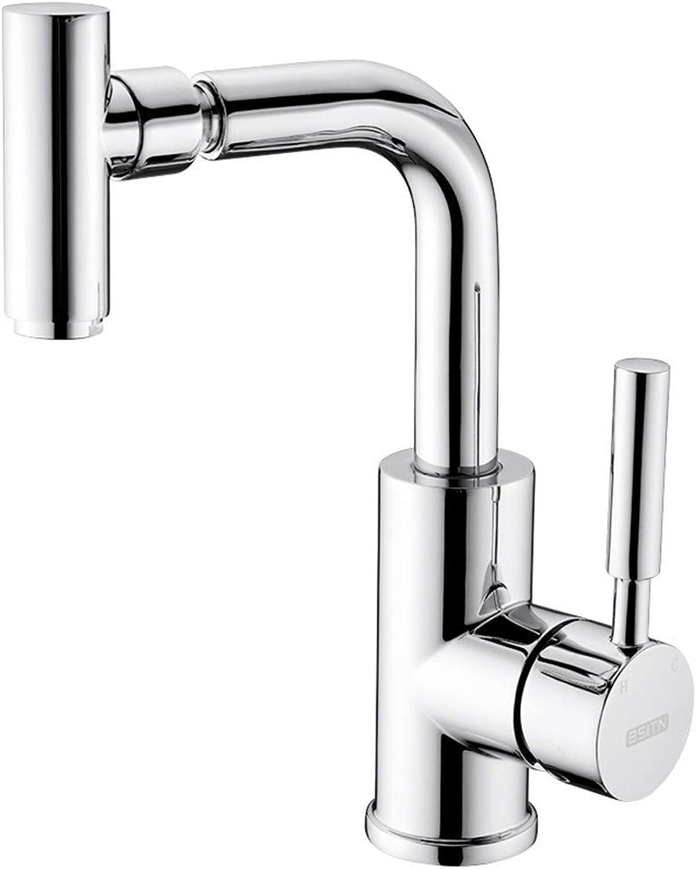 Cucsaist Faucet bathroom basin faucet copper core hot and cold universal single hole faucet bathroom kitchen double wash basin faucet