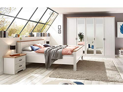 möbelando Schlafzimmer Komplettset Schlafzimmerprogramm Möbelset (3-teilig) Jillana II