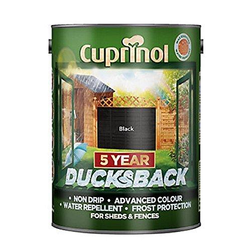 Cuprinol 5244557 5 Year Ducksback Exterior Woodcare, Black, 5L