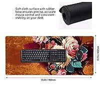 花 花束 マウスパッド ゲーミングマウスパット デスクマット キーボードパッド 滑り止め 高級感 耐久性が良い デスクマットメ キーボード パッド おしゃれ ゲーム用(90cm*40cm)