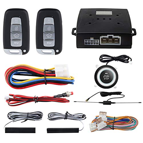 EASYGUARD EC003N-K-1 PKE Car Alarm System Proximity Lock Unlock Push Button Start Remote Engine Start Keyless Go System DC12V