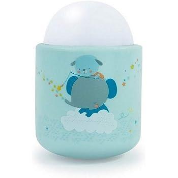 Pabobo - Timoleo -Veilleuse Portable LED à Lumière Douce pour Bébé et Enfant - Rechargeable - 70 heures d'autonomie sans pile ni fil - Bleu