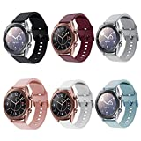 Compatible for Galaxy Watch 3 41mm Bands, 6 Pack 20mm Silicone Replacement Sport Watch Wristband Strap Compatible for Samsung Galaxy Watch 3 41mm Band