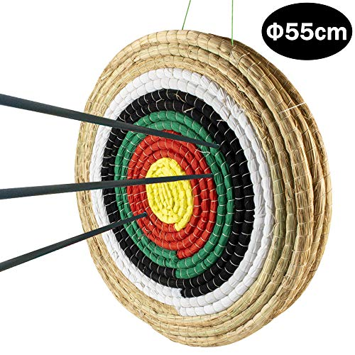 Namotu Traditional Archery Target Solid Straw For Adults Three Layer Round Archery Target Shooting...