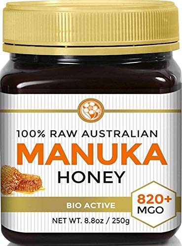 Manuka Honey MGO 820+ (NPA 20+) High Grade Medicinal Strength Manuka Honey - Raw, Active, Certified - 250g by Good Natured