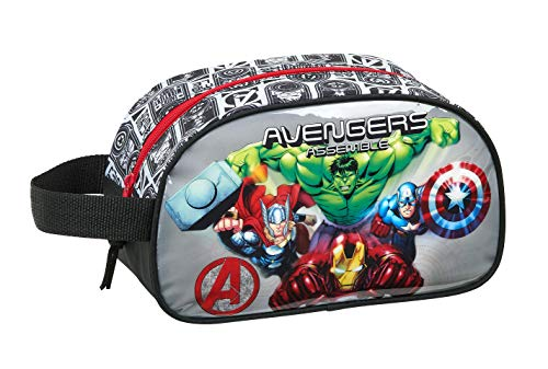 Neceser safta Escolar Infantil Mediano con Asa de Avengers Heroes, 260x120x150mm