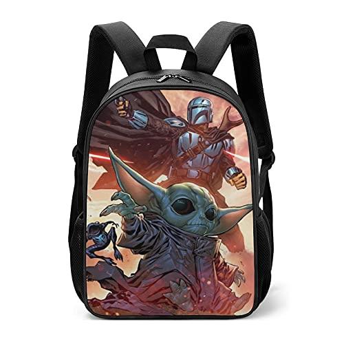 Star Mandalorian Yoda Wars - Bolsas escolares para niños y niñas