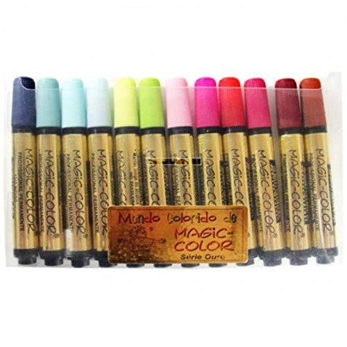 Estojo Magic Color 12 Cores Intermediária III 644
