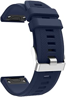 Garmin Fenix 5 Easy Fit/Release Silicone Watch Band, 22mm 8colors Replacement Strap Bracelet for Forerunner 935 Smart Watch(Not Fit Fenix 5X 5S) (Dark Blue)
