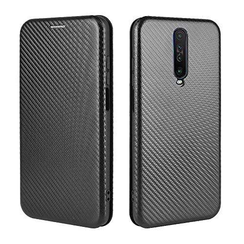 Teléfono Flip Funda Para Xiaomi Redmi K30 Ultra Case, Luxury Carbon Fibra PU y TPU Caso Híbrido Protección completa Funda a prueba de choques Funda para Xiaomi Redmi K30 Ultra Tapa trasera del teléfon