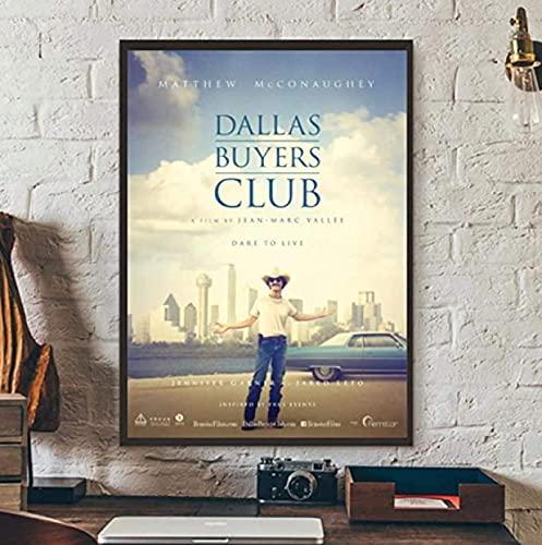 Póster y pintura 60x90cm sin marco Dallas Buyers Club Actor de película Matthew McConaughey cubierta póster clásico arte póster obra de arte