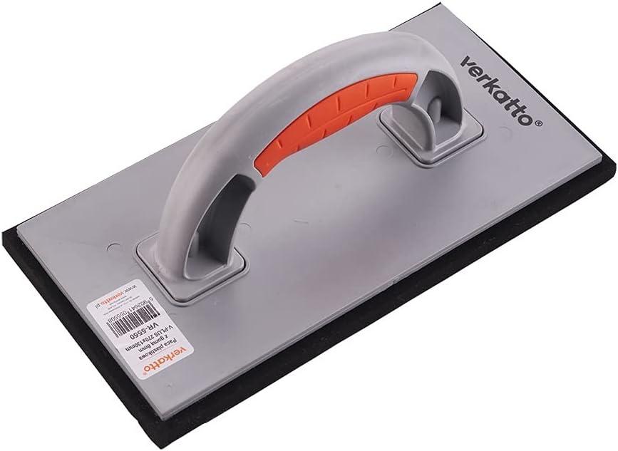 Mivos Rallador de plástico para juntas, 270 x 130 mm, para azulejos / tablas de juntas con 8 mm, revestimiento de caucho celular, color negro
