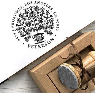 Timbri Personalizzati Matrimonio Indirizzo Albero della Vita Kraft Carta Scatole Regalo