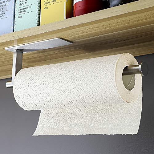 YIGII Küchenrollenhalter ohne Bohren - Unter Schrank Küchenrollenhalter Edelstahl Papierrollenhalter für Küchen