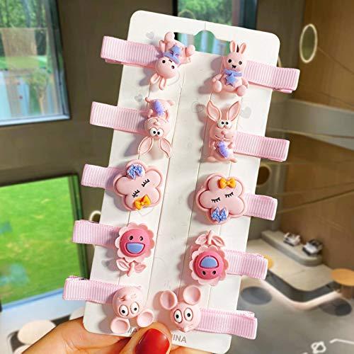 N-B New10 unidades / Set niña dibujos animados frutas helado Horquillas para el pelo Niños Lindo Horquillas de pelo Horquillas de pelo Accesorios de moda