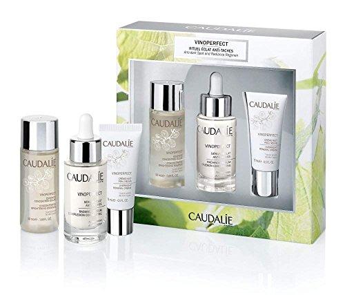 Caudalie Vinoperfect gegen Pigmentflecken & Altersflecken & Radiance Set (für strahlende Haut)