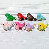 WLKK Mini Ornamento Lindo de la estatuilla del pájaro de la Historieta, Adornos de los Artes de la Resina Animal Que cultiva un huerto(8pcs Set)