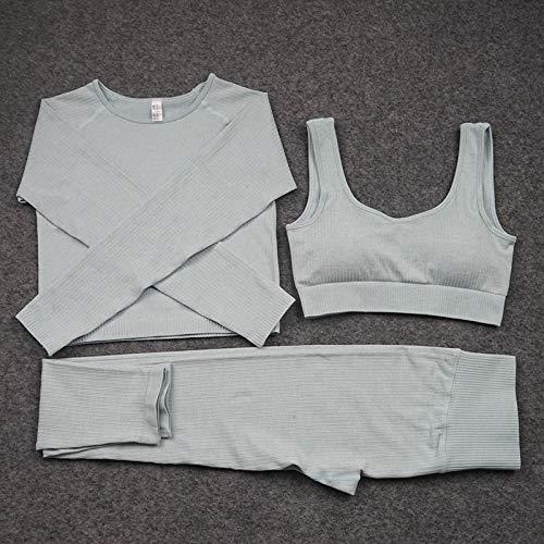 YEESEU Femmes sans Couture Gym Set Long Haute Taille High Hi