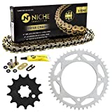 NICHE Drive Sprocket Chain Combo for Kawasaki KX65 Front 13 Rear 46 Tooth 428VM-X X-Ring 108 Links