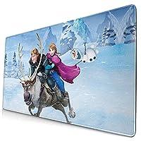 マウスパッドアナと雪の女王 (2) 大型 デスクマット Pcマット 滑り止めゴム底 滑り止め マウス対応 耐洗い表面 快適操作性 40x75cm