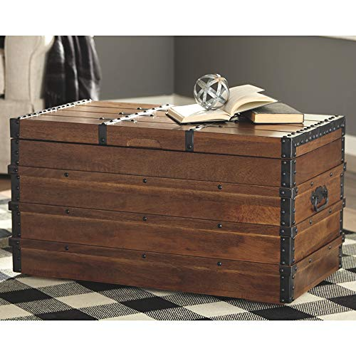 Signature Design by Ashley - Kettleby Storage Trunk - Rustic - Brown
