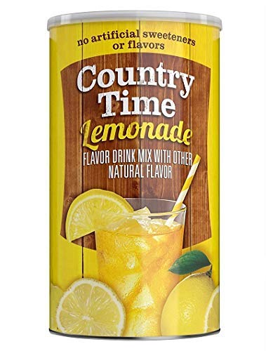 Country Time Lemonade Flavored Drink Mix 82.5 oz Canister (Pack of 2)