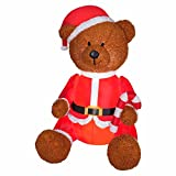 Gemmy Christmas AIRBLOWN Inflatable Teddy Bear with Fuzzy Plush Material That SIMULATES Hair Outdoor Holiday Yard Decoration