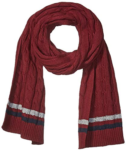 Amazon Brand - Goodthreads Men's Soft Cotton Cable Knit Scarf, Burgundy, One Size