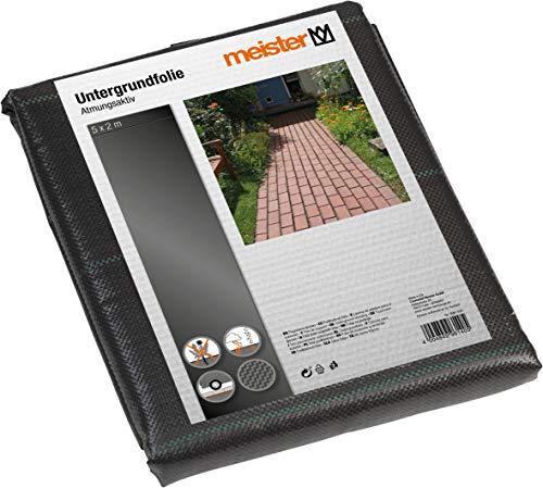Meister Unterbodengewebe 5 x 2 m - 120 g/m² - PP - schwarz - Zur Stabilisierung von Untergründen - Wasserdurchlässig & Reißfest - Verhindert Unkrautwachstum / Bodengewebe / Bändchengewebe / 9961400