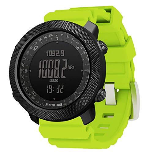 WRJY Reloj Inteligente para Deportes al Aire Libre, Reloj Digital Multifuncional Relojes de Pulsera Militares para Hombres Banda de Gel de sílice Altímetro Barómetro Brújula 50M Reloj i