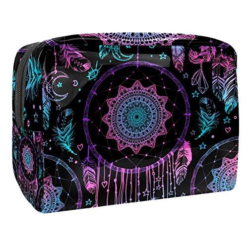 Trousse à Maquillage en Color Dream Catcher Mysterious Trousse de Toilette compacte et Pratique Vanity Case Un Cadeau Parfait 18.5x7.5x13cm
