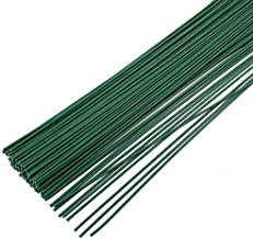 200 Pcs 16 Inch 22 Gauge Dark Green Floral Stem Wire,Flower Making Accessory Perfect for DIY Bouquet Stem Wrapping and Crafts