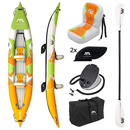 "AM AQUA MARINA Kayak Gonfiabile a 2 posti in Set BETTA-412 2020 13'6 ""Canoa Kayak per 2..."