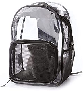 MAOSHE Pet Bag, New Pet Dog Backpack Transparent Breathable Puppy Cat Bag Fashion Dog Outdoor Carrier Bag Pet Products