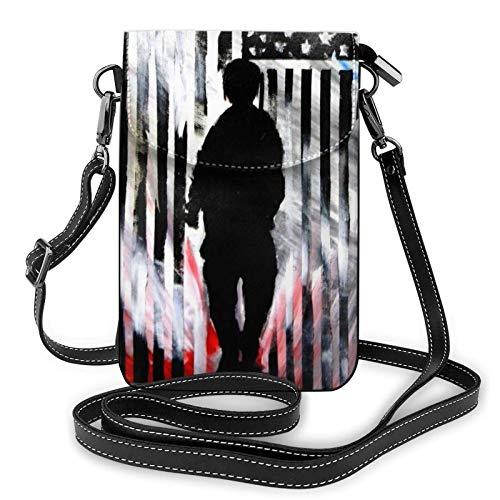 Hdadwy Unisex Small Crossbody Phone Bag Leichte, niedliche Kartenhalter Brieftasche Geldbörse Phone Bag Geeignet für alle Arten von Mobiltelefonen, Army Camouflage 3D Print