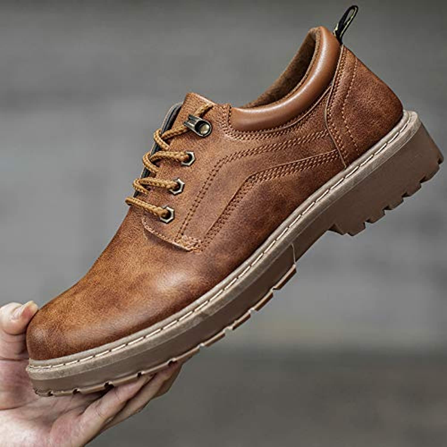 LOVDRAM Boots Men's Tough Guys Help Increase Martin Boots Tooling shoes Men'S shoes Casual shoes Wild