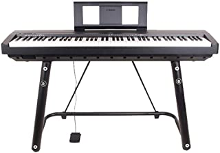 Heavy Piano Stand - Sturdy Reinforced U Design, Foam Padded Arms, Digital Piano Stand, Fits 54-61-88 Key Electric Pianos, ...