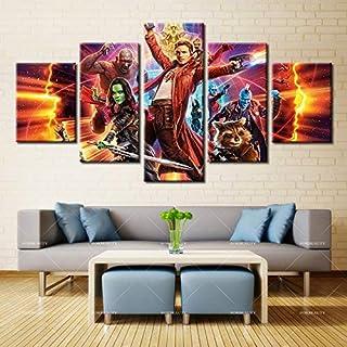 Canvas Imprime En Lienzo 5 Piezas De Dibujos Paintings HD Imprimir Guardians of The Galaxy Poster Pictures For Living Room,A,20 * 30 * 2+20 * 40 * 2+20 * 50 * 1