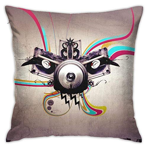45x45cm Funda Throw Pillow Case Almohada Cojín Música Abstracta Fundas colchón Cojines Decorativa Cuadrado sofá