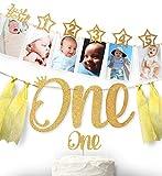 1st Birthday 12 months Photo Banner, Cake...