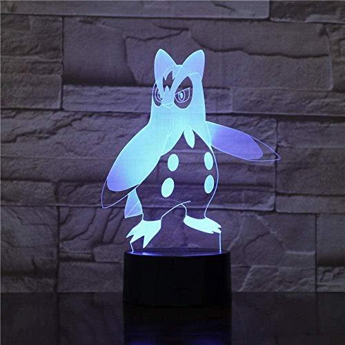 Pinguin 3D magische Laterne LED Nachtlicht USB Touch Fernbedienung Hauptdekoration Tischlampe Handwerk Baby Geburtstag Kinder Urlaub kreatives Geschenk