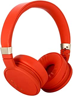Sports Wireless Headset Bluetooth 5.0 Microphone Technology Headset Wired/Wireless Switch, for Phone Tablet PC etc - Red