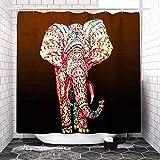 NO BRAND Tapis de Salon Los Elefantes impresión WC Cubierta del cojín Estera de baño Cortina de Ducha (Tamaño: Cortina de Ducha) Alfombra (Size : Shower Curtain)