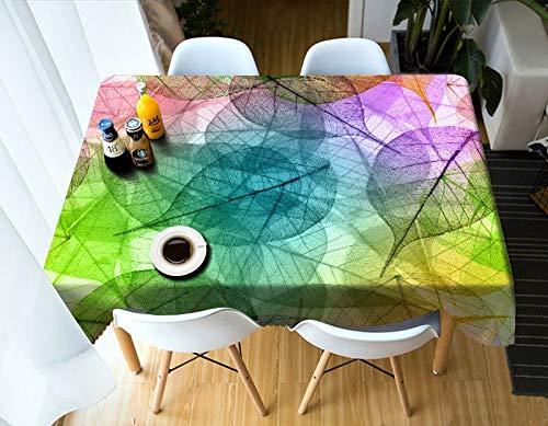 Nappe de Lignes colorées de Mode 3D décor à la Maison Lavable en Coton Nappe rectangulaire Couverture de Table imperméable Variation A6