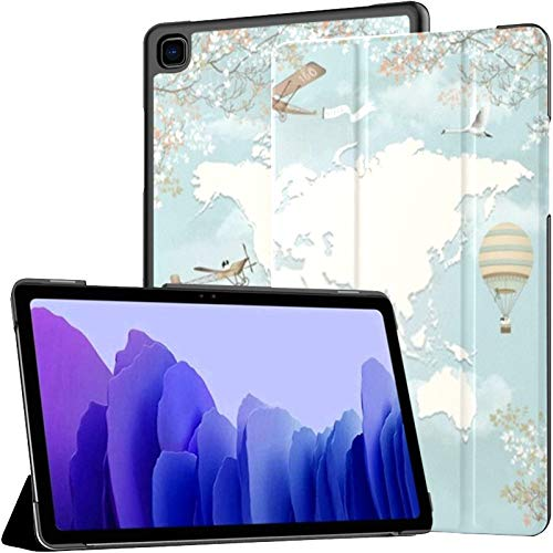 Case For Samsung Galaxy Tab A7 10.4 Inch Tablet 2020(sm-t500/t505/t507),3d Wallpaper World Map Design Planes Multiple Angle Stand Cover With Auto Wake/sleep