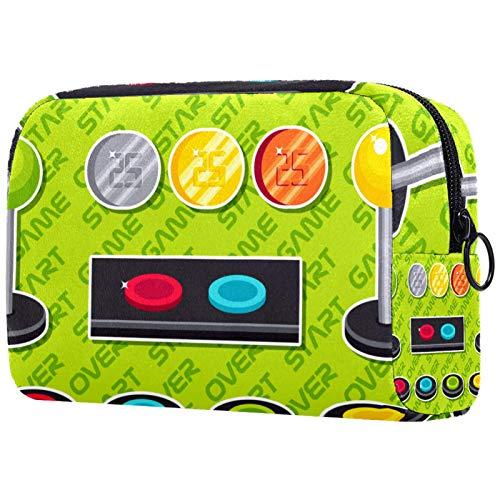 KAMEARI Kosmetiktasche Arcade Button Elements Große Kosmetiktasche Organizer Multifunktionale Reisetasche