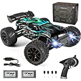 HAIBOXING RC Cars Hailstorm, 1:18 Scale 4WD High Speed 36+ km/h Remote Control Car Off Road Monster RC Truck with 2 Batteries 40 mins Play, Waterproof RC Toys Truggy Gifts for Kids and Adult