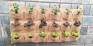 Bio Blooms Agro India Private Limited Vertical Gardening pots, Plant Growing Container Bag Made of Jute, bio Wall Garden H...